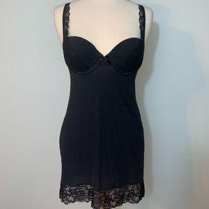 Victoria's Secret black nightie w/lace